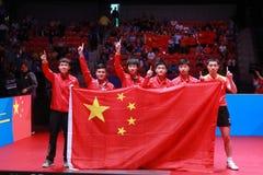 Team China-winnaar van de wereldkampioenschappen royalty-vrije stock afbeelding