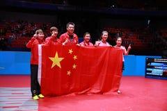 Team China-winnaar van de wereldkampioenschappen royalty-vrije stock foto