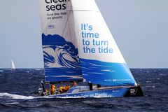 Volvo Ocean Race Team Clean Seas Stock Image