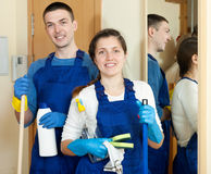 Team of cleaners Royalty Free Stock Photos