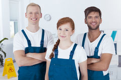 Team of cleaners Stock Photography