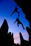 Team of climbers in danger. stock images