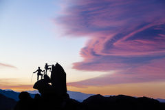 Team of climbers. Royalty Free Stock Photography