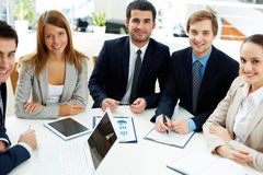 Team of co-workers Royalty Free Stock Photography