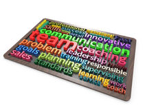 Team Coaching Communication wordclouds Stock Images