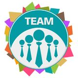 Team Colorful Abstract Shapes Circular Stock de ilustración