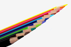 Team of Colorful Pencils Royalty Free Stock Photo