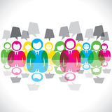 Team of colorful people. Stock vector Royalty Free Stock Photo