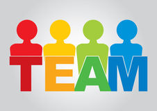 Team - communication concept. With text and color figures Stock Image