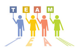 Team - communication concept. With text and color figures Stock Photography