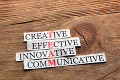 Team communicative  acronym Stock Photos