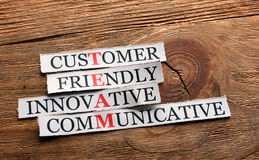 Team communicative innovative Stock Image