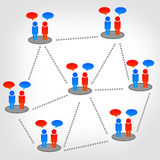 Team, Community. The Dialogue or contact many people Royalty Free Stock Photo