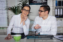 Team Of Computer Programmers Analyzing Code Royalty Free Stock Photo