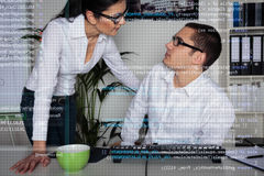 Team Of Computer Programmers Analyzing Code Royalty Free Stock Images