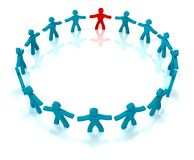Team concept. A group of people standing in a circle Royalty Free Stock Images