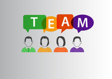 Team concept as  illustration of group of diverse workforce communicating with each other Royalty Free Stock Photos