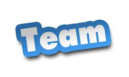Team concept 3d illustration isolated. On white background Stock Photos