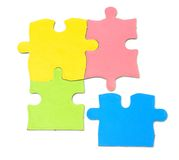 Team concept. Puzzle isolated on white background Stock Photography