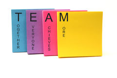TEAM Concept Sticky Notes Stock Photography