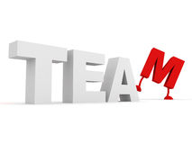 Team concept text Stock Photos