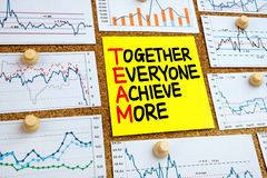 Team concept:together everyone achieve more Stock Photography