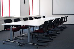 Team conference room. With big table and board in the modern office Royalty Free Stock Images