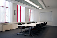 Team conference room. With big table and board in the modern office Stock Photography