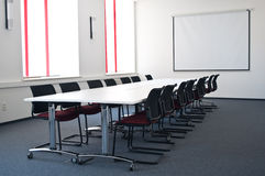 Team conference room. With big table and board in the modern office Royalty Free Stock Image