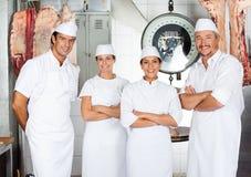 Team Of Confident Butcher Lizenzfreie Stockbilder