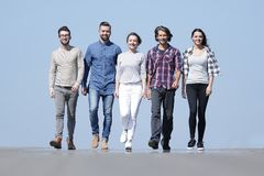 Team of confident friends go ahead Royalty Free Stock Images