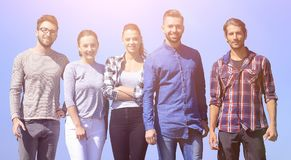 Team of confident young people Royalty Free Stock Image