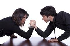 Team confrontation Stock Image