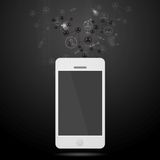 Team connect abstract background with mobile phone Stock Photography