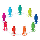 Team connection. Colorful world isolated Royalty Free Stock Image