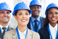 Team construction managers Stock Photos