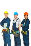 Team of constructor workers men Royalty Free Stock Photos
