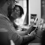 Team Corporate Planning Communication Internet begrepp royaltyfri fotografi