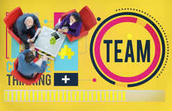 Team Corporate Teamwork Collaboration Assistance Concept Royalty Free Stock Photos