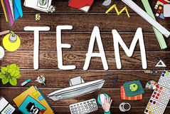 Team Corporate Teamwork Collaboration Assistance Concept Royalty Free Stock Images