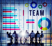 Team Corporate Teamwork Collaboration Assistance Concept Royalty Free Stock Photo