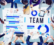 Team Corporate Teamwork Collaboration Assistance Concept Royalty Free Stock Photography