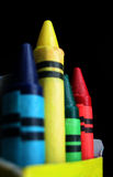 Team of crayons Royalty Free Stock Photo