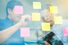 Team creative business planning and thinking of ideas for succes Royalty Free Stock Image