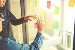 Team creative business planning and thinking of ideas for success work project.  royalty free stock photo