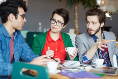 Team of Creative Casual People Working in Meeting Royalty Free Stock Photo