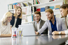 Team of creative people and designers in office Royalty Free Stock Photo