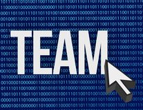 Team and cursor binary blue Royalty Free Stock Photos