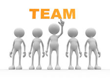 Team. 3d people - men, person with word  team Stock Photos