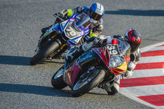 Team Dafy Moto Angers. 24 Hours of Catalunya Motorcycling Stock Photo